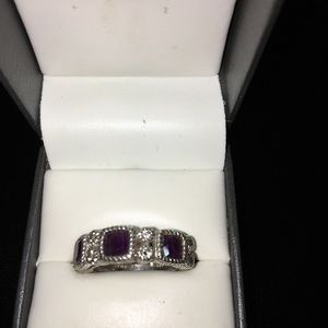 925 silver /purple ring